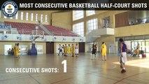 Record du monde de paniers au basket du milieu de terrain