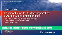 Read Books Product Lifecycle Management: 21st Century Paradigm for Product Realisation (Decision