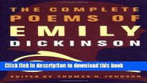 Pdf Download The Complete Poems Of Emily Dickinson The