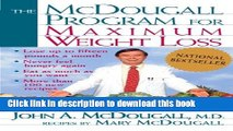Read The Mcdougall Program for Maximum Weight Loss Ebook Free