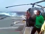 Pakistani Navy Ship Hits the Indian Navy Ship in the Sea