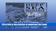 PDF Deep-Sea Biology: A Natural History of Organisms at the Deep-Sea Floor  Read Online
