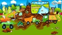 Camión, Excavadoras, Grúa - Coches y camiones para niños - Camiones infantiles. Spanish Cartoons