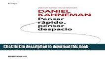 PDF Pensar rapido, pensar despacio (Psicologia (Debolsillo)) (Spanish Edition)  Read Online