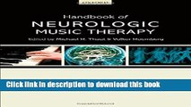 PDF Handbook of Neurologic Music Therapy Free Books