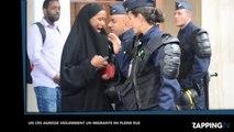Un CRS agresse violemment une migrante en pleine rue, la vidéo choc !