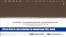 [PDF]  Codex Alimentarius Commission: Procedural Manual: Joint FAO/WHO Food Standards Programme