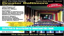 Read ADC The Map People Greater Baltimore, Maryland: Street Map Book  PDF Online
