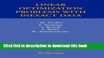 PDF] Linear Optimization Problems with Inexact Data Full