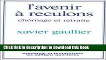 Read AVENIR À RECULONS (L ) PDF Free