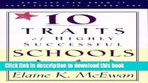 Read Ten Traits of Highly Successful Schools PDF Free