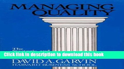 Read Managing Quality: The Strategic and Competitive Edge  PDF Online