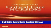 Read Introduction to Critical Care Nursing, 6e (Sole, Introduction to Critical Care Nursing) Ebook