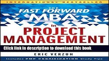 Read Book The Fast Forward MBA in Project Management (Fast Forward MBA Series) ebook textbooks