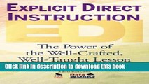 Read Book Explicit Direct Instruction (EDI): The Power of the Well-Crafted, Well-Taught Lesson
