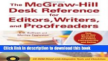 Download The McGraw-Hill Desk Reference for Editors, Writers, and Proofreaders (with CD-ROM) PDF