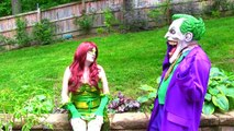 Spiderman Vs Poison Ivy Vs Elsa - Spiderman KISSES Poison Ivy! Fun Superhero Movie
