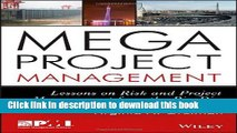 Read Books Megaproject Management: Lessons on Risk and Project Management from the Big Dig E-Book