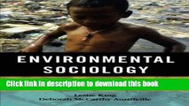 Download Books Environmental Sociology: From Analysis to Action PDF Free