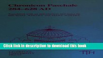 [PDF] Chronicon Paschale 284-628 (Translated Texts for Historians LUP) Download Full Ebook