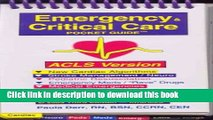 Read Emergency   Critical Care Pocket Guide, Acls Version Ebook Online