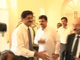 Senior Minister For Finance Syed Murad Ali Shah Called On CM Sindh Syed Qaim Ali Shah At CM Home Today