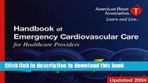 Read 2004 Handbook of Emergency Cardiovascular Care for Healthcare Providers Ebook Free