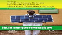 Read Access to Modern Energy Services For Health Facilities in Resource-Constrained Settings: A