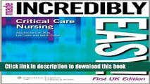 Read Critical Care Nursing Made Incredibly Easy! (Incredibly Easy! Series®) Ebook Online