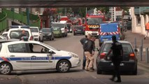 Normandy police outside church where hostage-takers killed priest – video