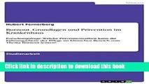 Download Burnout. Grundlagen und Prävention im Krankenhaus: Forschungsfrage: Welche