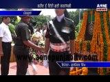ਸ਼ਹੀਦ ਨੂੰ ਦਿੱਤੀ ਗਈ ਸਰਧਾਂਜਲੀ, ਫੋਜ ਦੇ ਵੱਡੇ ਅਫਸਰ ਰਹੇ ਮੌਜੂਦ  Official tribute to martyred | Army officer present over there |