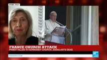 France church attack: priest killed in Normandy church, Vatican condemns attack