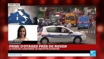 """Tuerie de l'église de Saint-Étienne-du-Rouvray : Le pape François """"condamne ce meurtre barbare"""""""