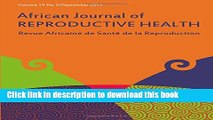 [Read PDF] African Journal of Reproductive Health: Vol.19, No.3 September 2015 Free Books