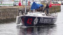 Saint-Malo   arrivée du bateau poitevin engagé dans la transat Québec - Saint-Malo