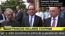 Attaque de Saint-Etienne-du Rouvray : les premiers mots de François Hollande