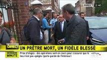 Attentat de Saint-Etienne-du-Rouvray : arrivée de François Hollande