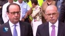 """Prise d'otages dans une église: Hollande évoque """"deux terroristes se réclamant de Daesh"""""""