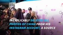 Rob Kardashian deletes all photos with Blac Chyna on Instagram