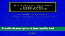 [PDF]  Bills of Lading: Law and Contracts  [Download] Full Ebook