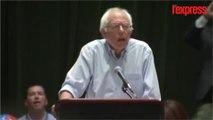 Bernie Sanders soutient Hillary Clinton et se fait huer par ses partisans