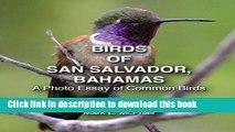 Read Birds of San Salvador, Bahamas: A Photo Essay of Common Birds PDF Online