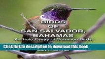 Read Books Birds of San Salvador, Bahamas: A Photo Essay of Common Birds PDF Online