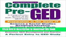 Read Contemporary s Complete Pre-GED : A Comprehensive Review of the Skills Necessary for GED
