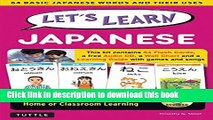 Download Books Let s Learn Japanese Kit: 64 Basic Japanese Words and Their Uses (Flashcards, Audio