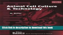 Read Book Animal Cell Culture and Technology (THE BASICS