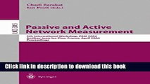 Read Passive and Active Network Measurement: 5th International Workshop, PAM 2004, Antibes