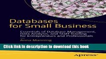Read Books Databases for Small Business: Essentials of Database Management, Data Analysis, and