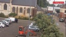 Saint-Etienne-du-Rouvray (76). Prise d'otages à l'église : les images de l'intervention de la BRI